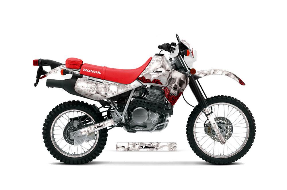 honda xr650l dirt bike graphics  bone collector