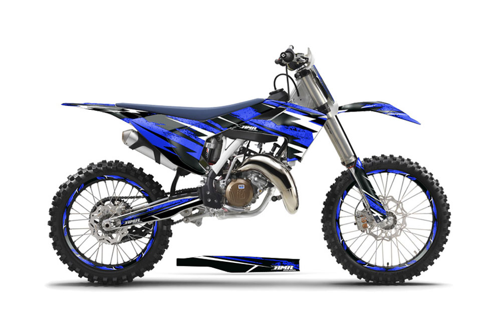 Husqvarna Tc 350 Dirt Bike Graphics Attack Blue Mx Graphic Wrap