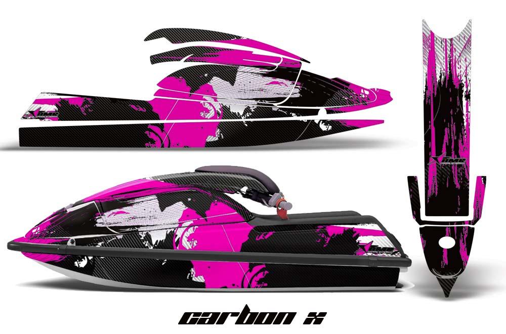 Kawasaki 750 SX SXR Graphics: Carbon X - Pink Jet Ski PWC Graphic Decal Wrap Kit
