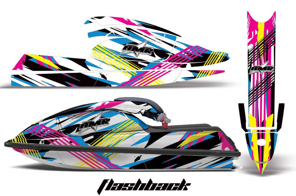 Kawasaki 750 SX SXR Graphics: Flashback - Jet Ski PWC Graphic Decal Wrap Kit