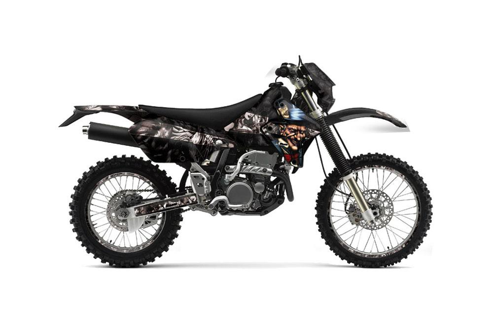 kawasaki klx400 dirt bike graphics: mad hatter - black mx graphic
