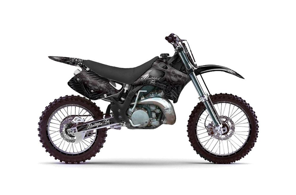 Kawasaki Kx125 Dirt Bike Graphics Skulls And Hammers Black Mx