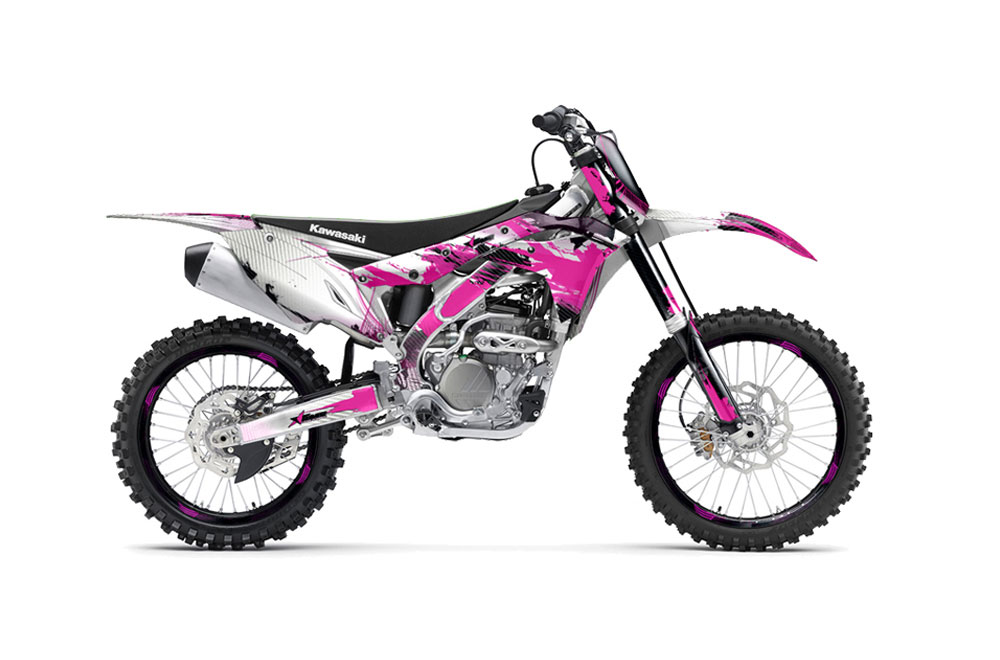 kawasaki kx250f dirt bike graphics carbon x pink mx