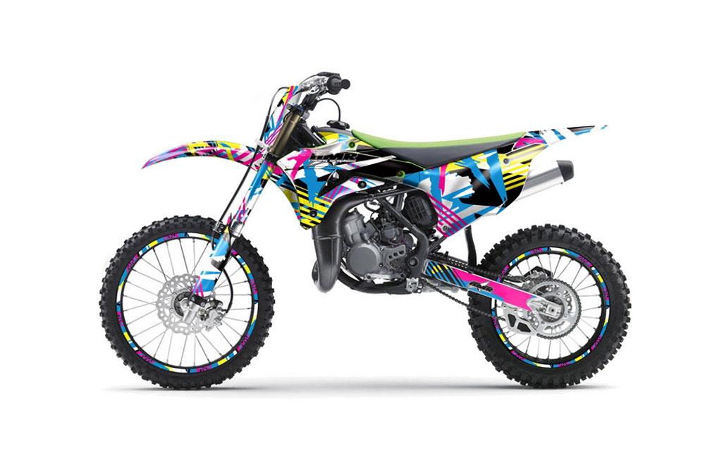 Kawasaki KX100 Dirt Bike Graphics (2014-2016)
