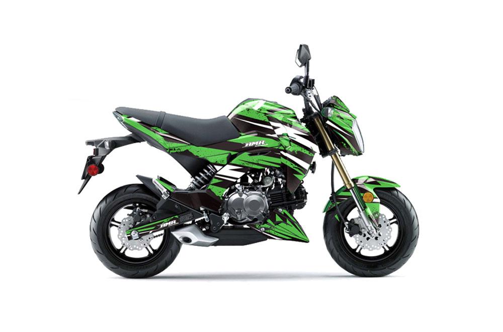 kawasaki z125 pro dirt bike graphics: attack - green mx graphic