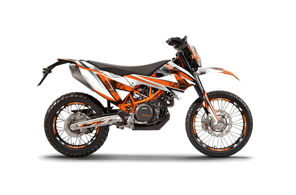 KTM Adventure 690 Enduro R Dirt Bike Graphics: Slash - Orange MX Graphic Wrap Kit (2012-2016)