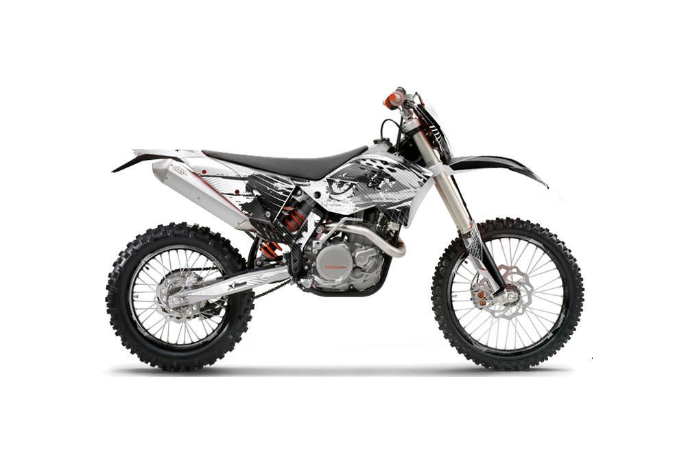 ktm c5 xcw 125 dirt bike graphics  carbon x