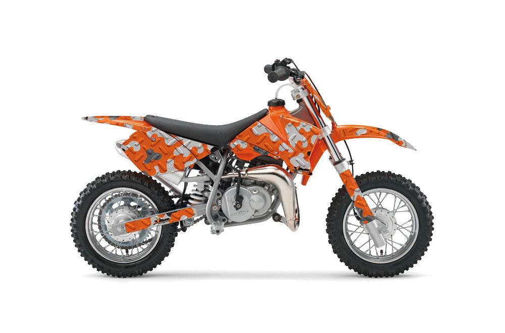 KTM SX 50 Adventure Jr Dirt Bike Graphics: Camoplate - Orange MX Graphic Wrap Kit (2002-2008)
