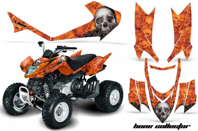 Arctic Cat DVX250 ATV Graphics: Bone Collector - Orange Quad Graphic Decal Wrap Kit