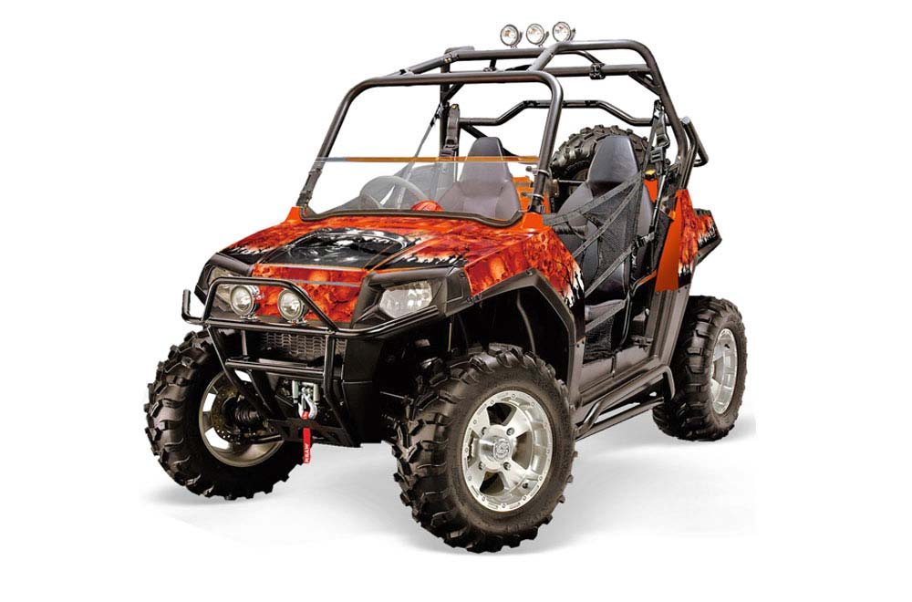 Polaris RZR 800 800S UTV Graphics (2011-2014) Reaper - Orange Side by Side  Graphic Decal Wrap Kit