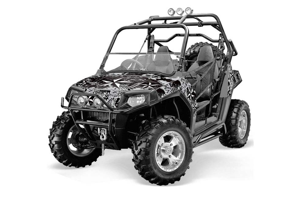 Polaris RZR 800 800S UTV Graphics: Northstar - Silver Side by Side Graphic Decal Wrap Kit