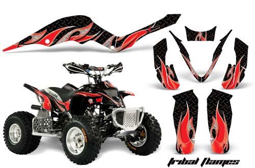 Apex Pro Shark MXR 70/90 ATV Graphics: Tribal Flames - Red Quad Graphic Decal Wrap Kit