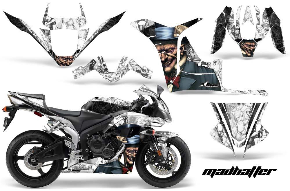 Honda CBR 600 RR Street Bike Graphics Mad Hatter