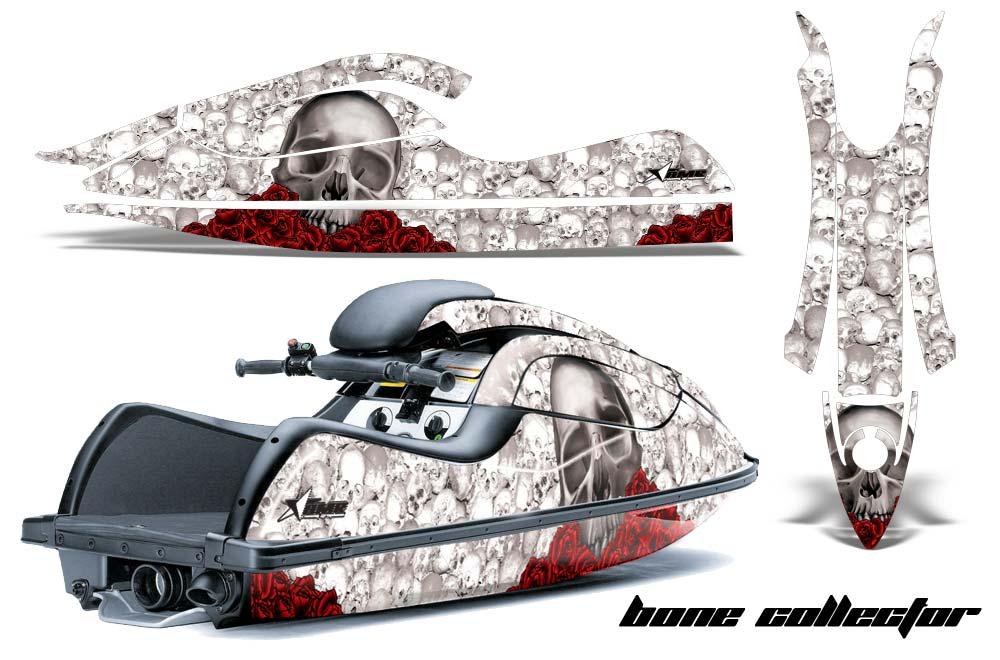 Kawasaki 800 SX-R Graphics: Bone Collector - White Jet Ski PWC Graphic Decal Wrap Kit