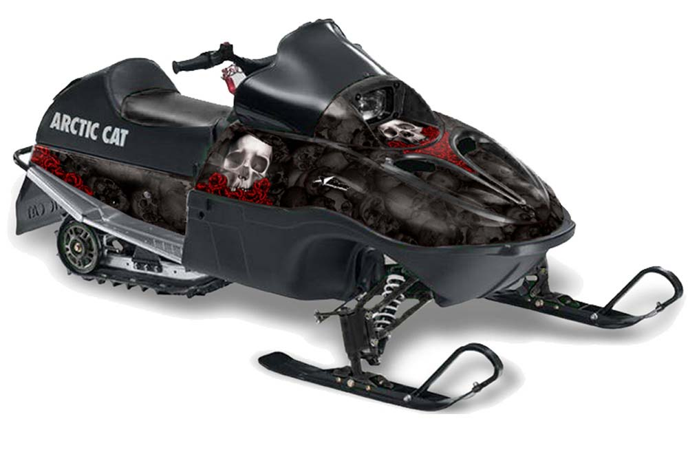 Arctic Cat 120 Sno Pro Youth Sled Graphics: Bone Collector - Black Snowmobile Graphic Decal Wrap Kit