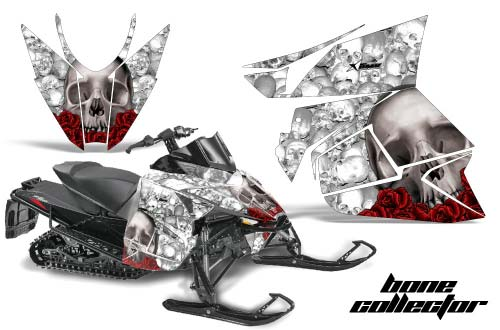 Arctic Cat ProCross Sno Pro Sled Graphics: Bone Collector - White Snowmobile Graphic Decal Wrap Kit