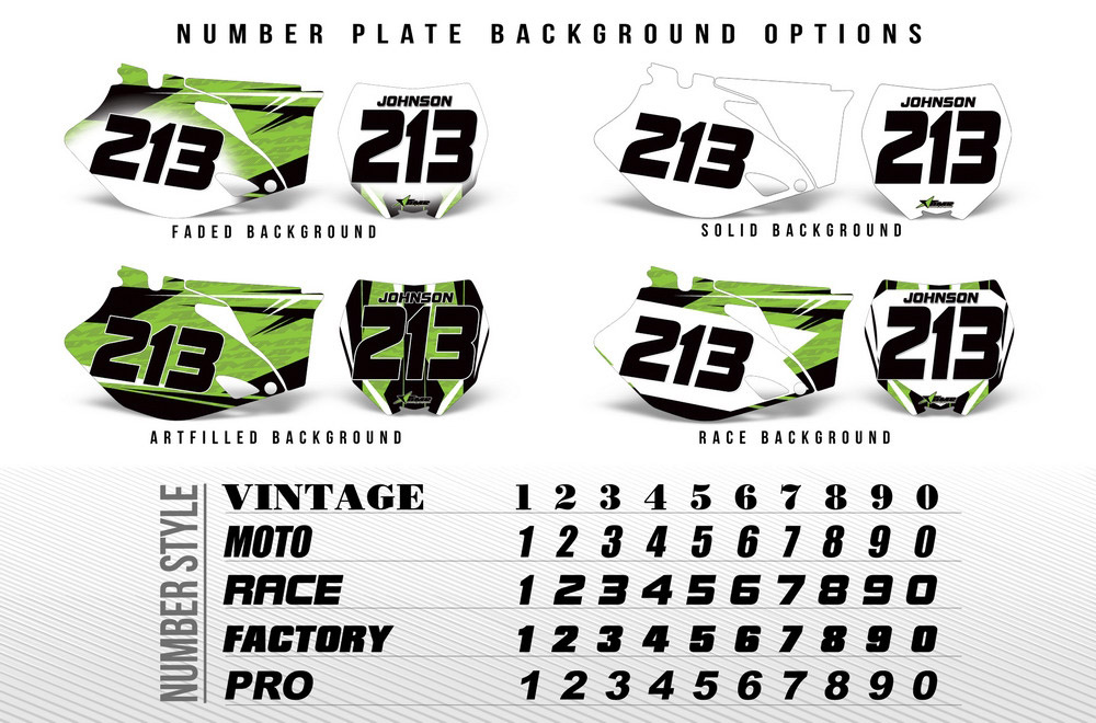 MX Dirtbike Number Plate Graphics