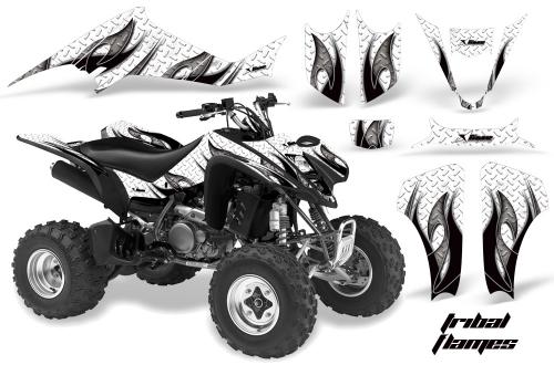 AMR Racing Graphics Kit for ATV Suzuki LTZ 400 2003-2008 REAPER WHITE
