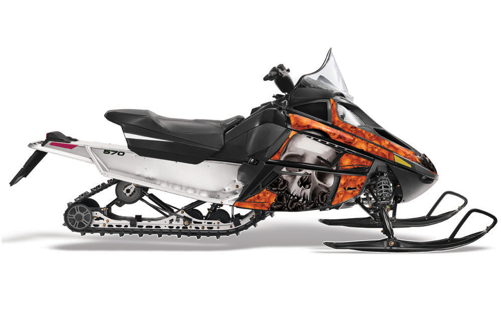 Arctic Cat F Z1 Series Sled Graphics: Bone Collector - Orange Snowmobile Graphic Decal Wrap Kit