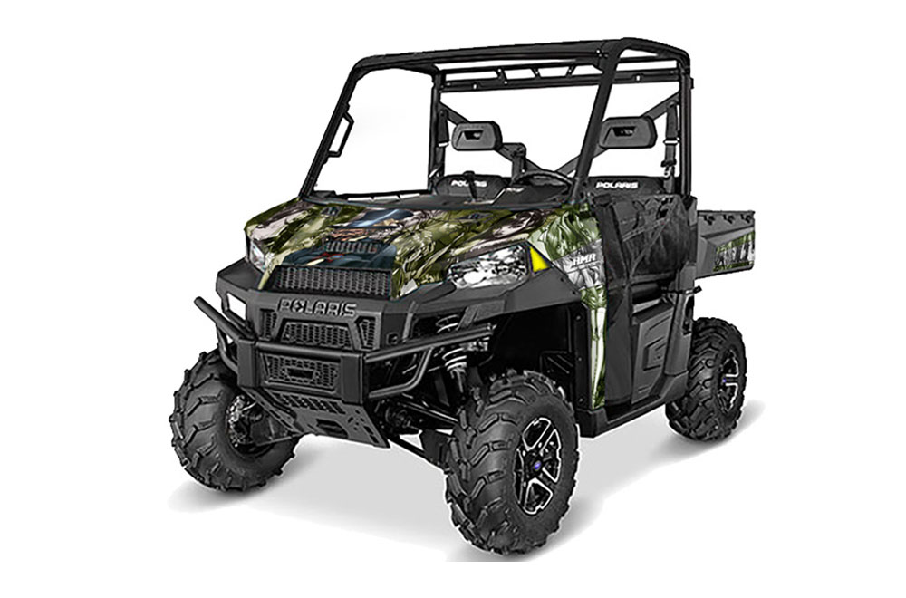 Polaris Ranger 570/900 XP UTV Graphics: Mad Hatter - Green Side by Side Graphic Decal Wrap Kit