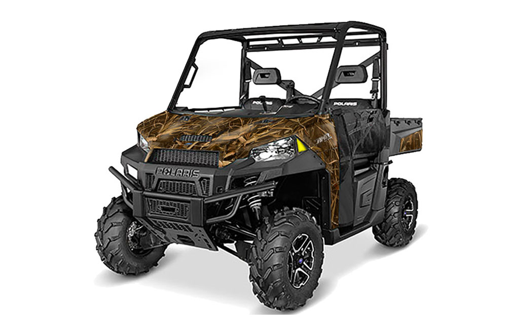 Polaris Ranger 570/900 XP UTV Graphics: Wing Camo Side by Side Graphic Decal Wrap Kit