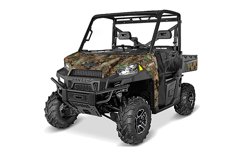 Polaris Ranger 570/900 XP UTV Graphics: Woodland Camo Side by Side Graphic Decal Wrap Kit