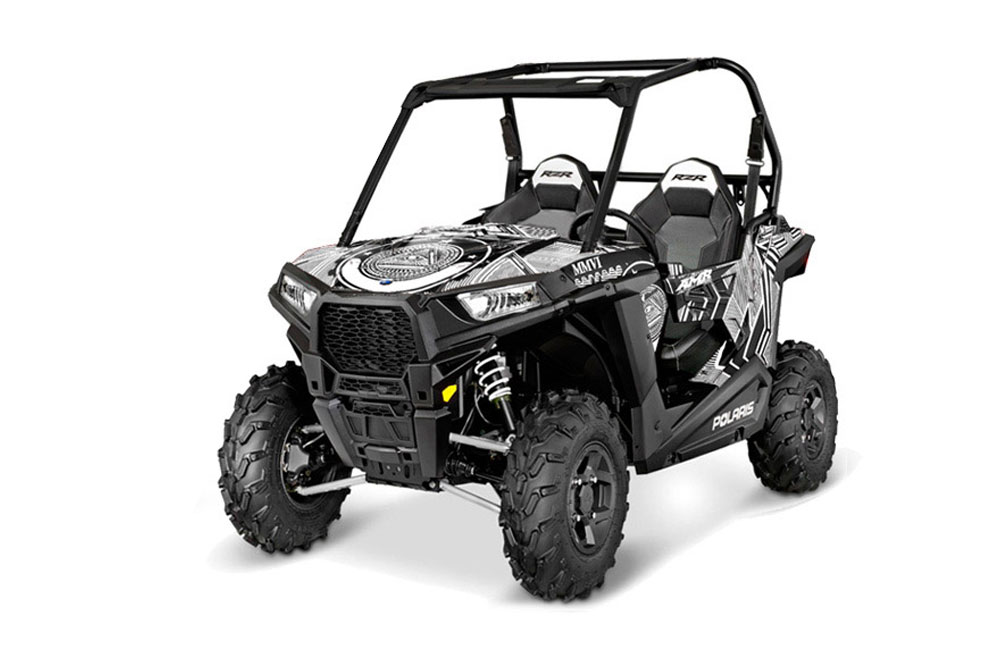 Polaris RZR 900 Trail UTV Graphics: Conspiracy - White Side by Side Graphic Decal Wrap Kit