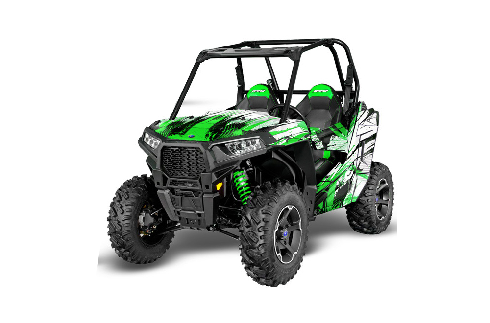 Polaris Side By Side >> Polaris Rzr 900s Utv Graphics 2015 2016 Carbon X Green Side By Side Graphic Decal Wrap Kit