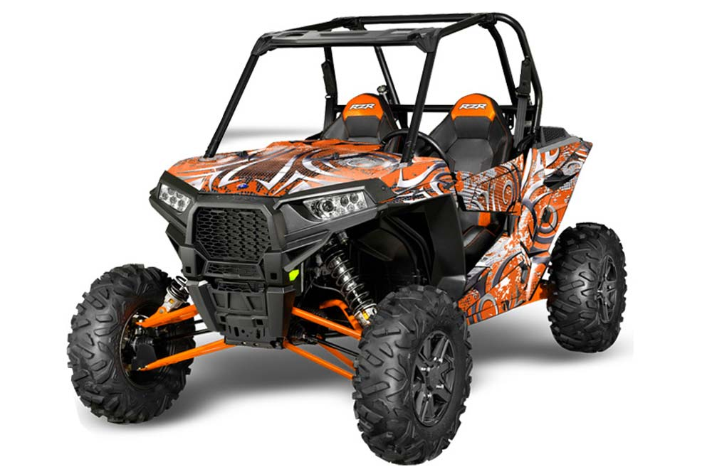 Polaris Side By Side >> Polaris Rzr 1000 Xp Graphics 2013 2016 Deaden Orange Side By Side Graphic Decal Wrap Kit