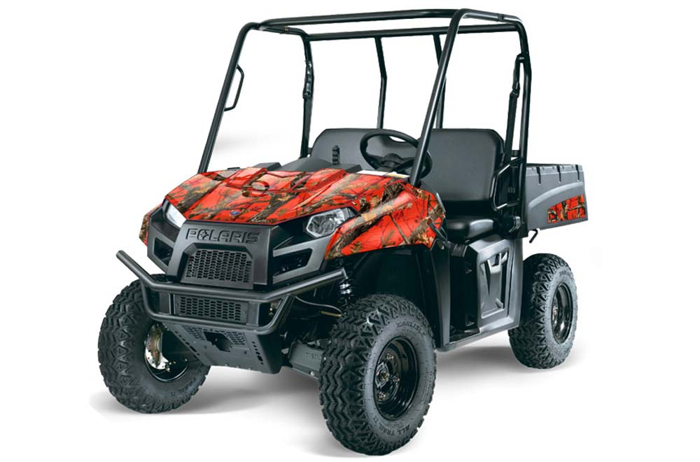 Polaris Ranger EV Electric Graphics: Fire Camo Side by Side Graphic Decal Wrap Kit