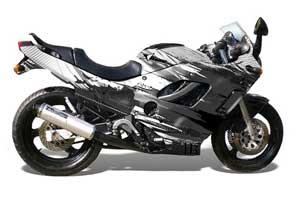 Suzuki Gsxr 600 750f Katana Street Bike Graphics Carbon X Black