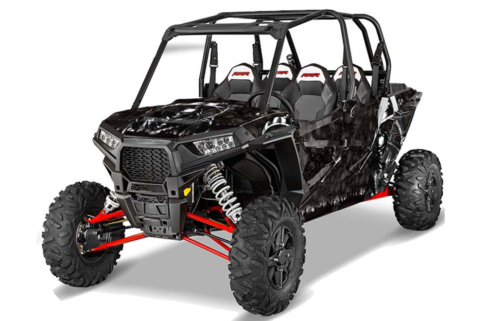 Polaris RZR 1000 XP 4 Door Graphics (2013-2016) Reaper - Black Side by Side  Graphic Decal Wrap Kit