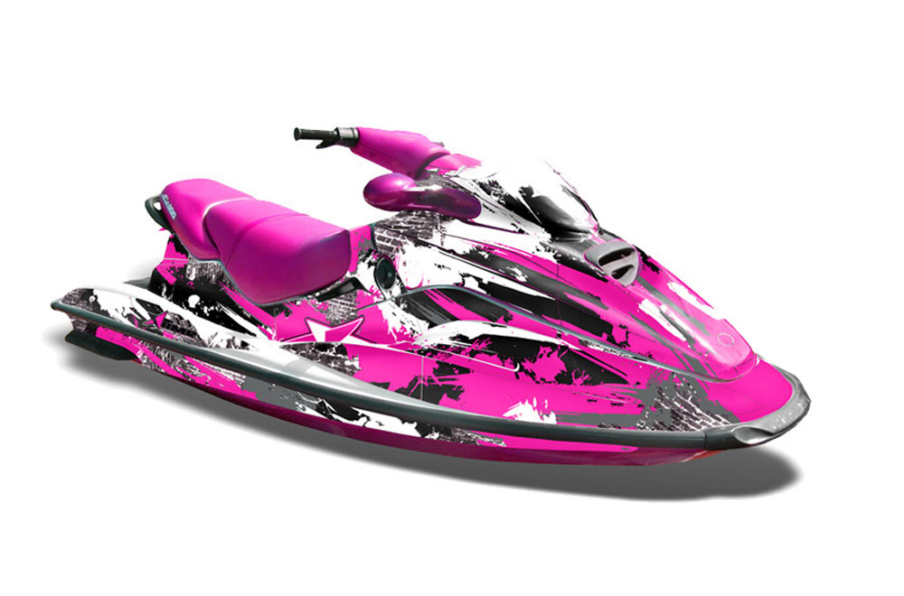 Sea Doo Bombardier GTX Siege Avant Graphics: Street Star - Pink Jet Ski PWC Graphic Decal Wrap Kit