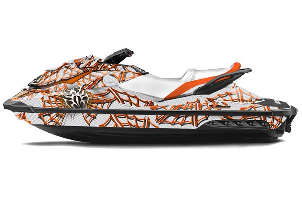 Sea Doo GTI GTR GTS Graphics: Widow Maker - Orange Jet Ski PWC Graphic Decal Wrap Kit