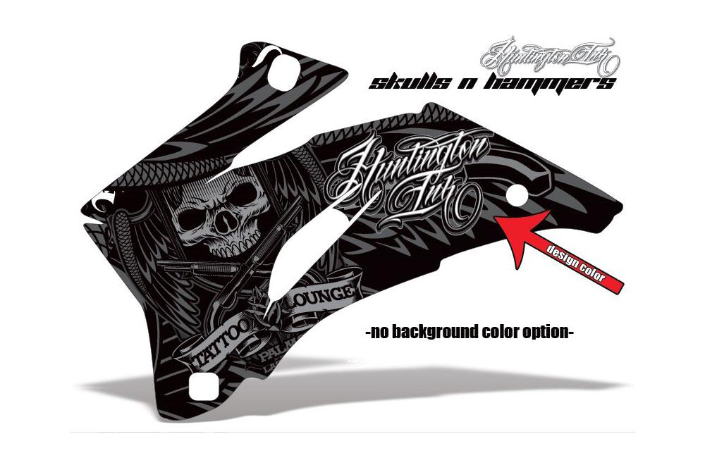 Polaris Ranger EV Electric Skulls n Hammer - Customized Graphic Kit