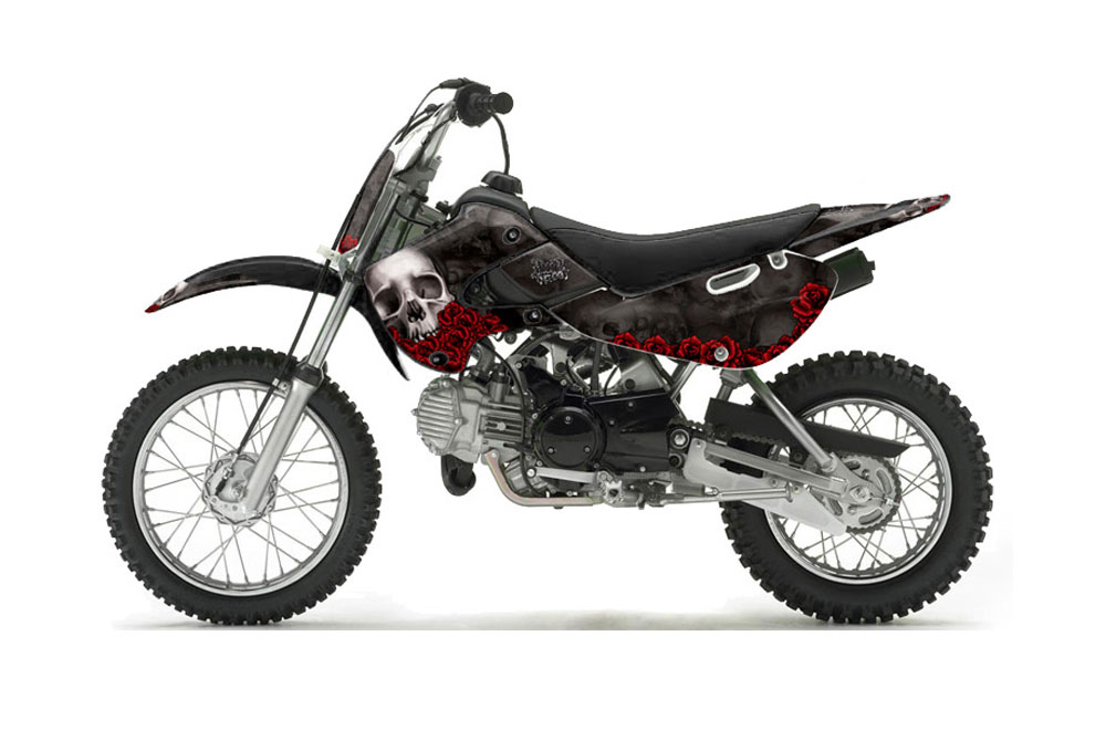 Suzuki Drz 110 Dirt Bike Graphics Bone Collector Black Mx