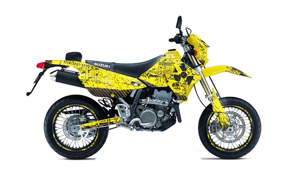 suzuki drz 400 s metal tank dirt bike graphics meltdown. Black Bedroom Furniture Sets. Home Design Ideas