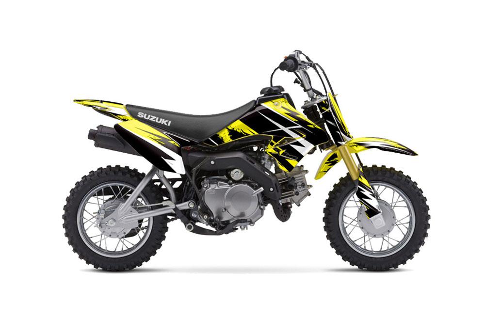 Suzuki DRZ 70 Dirt Bike Graphics: - Yellow MX Graphic Wrap ...
