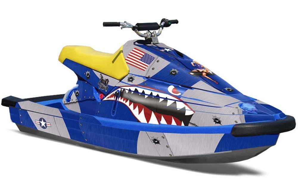 yamaha wave blaster graphics p40 warhawk blue jet ski. Black Bedroom Furniture Sets. Home Design Ideas