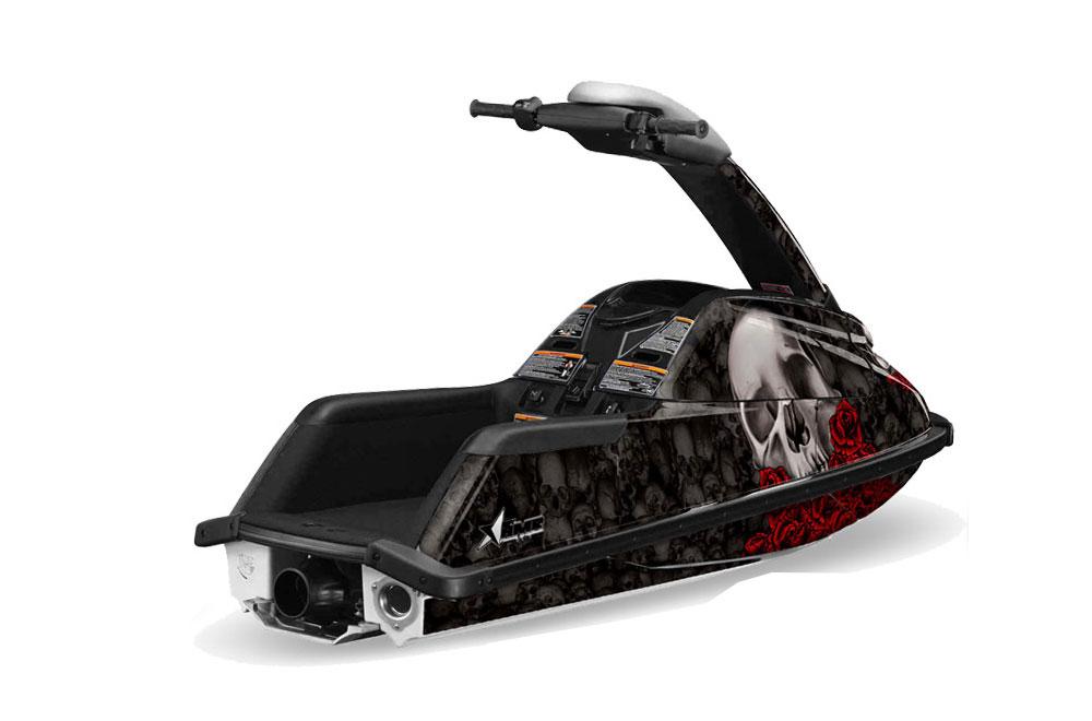 Yamaha Superjet Freestyle Graphics: Bone Collector - Black Jet Ski PWC Graphic Decal Wrap Kit