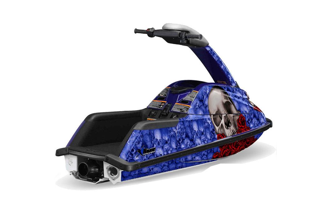 Yamaha Superjet Freestyle Graphics: Bone Collector - Blue Jet Ski PWC Graphic Decal Wrap Kit