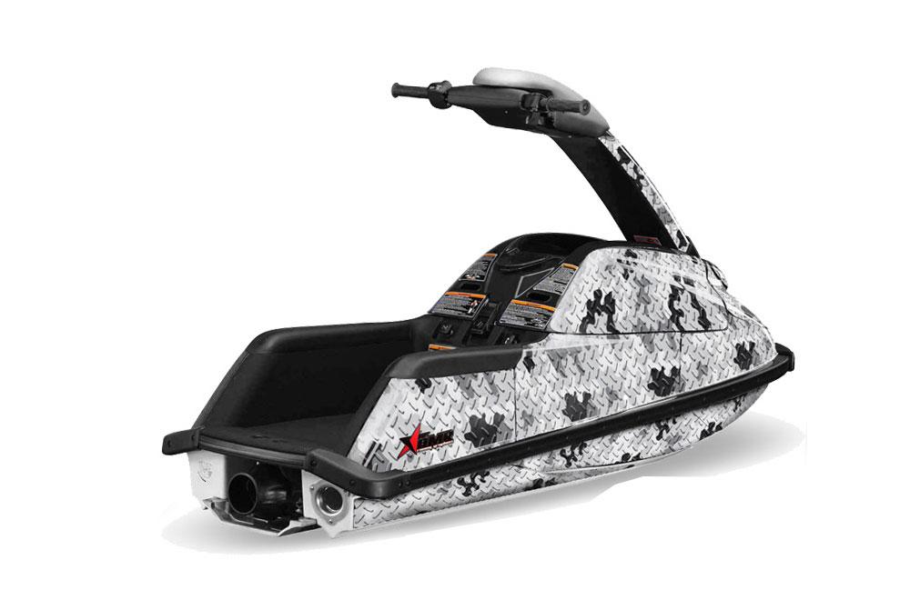 Yamaha Superjet Freestyle Graphics: Camo Plate - Silver Jet Ski PWC Graphic Decal Wrap Kit