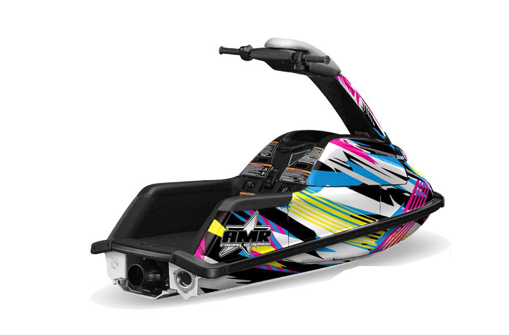 Yamaha Superjet Freestyle Graphics: Flashback Jet Ski PWC Graphic Decal Wrap Kit