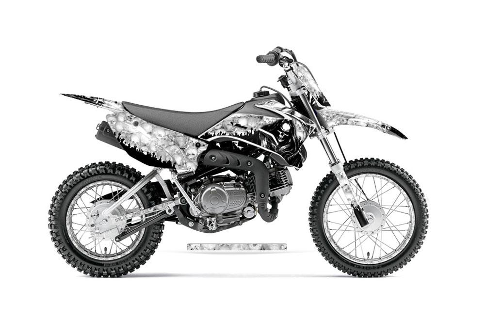 Yamaha TTR Dirt Bike Graphics Reaper White MX Graphic Decal - Decal graphics for dirt bikes