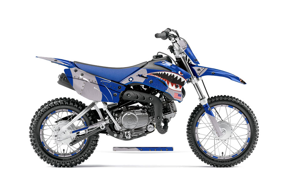 Yamaha TTR Dirt Bike Graphics P Warhawk Blue MX Graphic - Decal graphics for dirt bikes