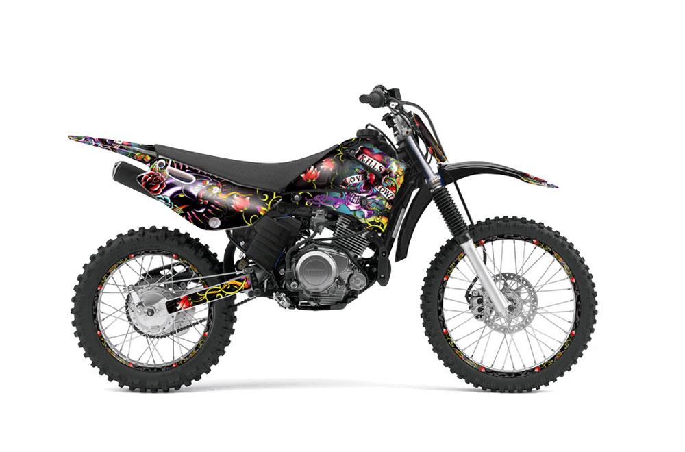 Yamaha TTR Dirt Bike Graphics Ed Hardy Love Kills Black MX - Decal graphics for dirt bikes