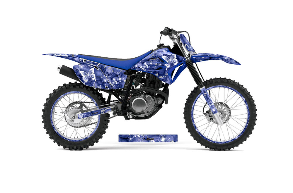 Yamaha TTR230 Dirt Bike Graphics: Butterflies - Blue MX Graphic Decal Wrap Kit (2005-2016)