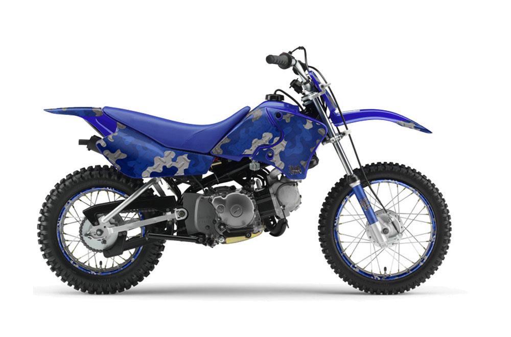 Yamaha TTR90 Dirt Bike Graphics (2000-2007) Camoplate - Blue MX Graphic  Decal Wrap Kit