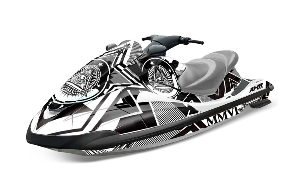 Yamaha Wave Runner Graphics: Conspiracy - White Jet Ski PWC Graphic ...