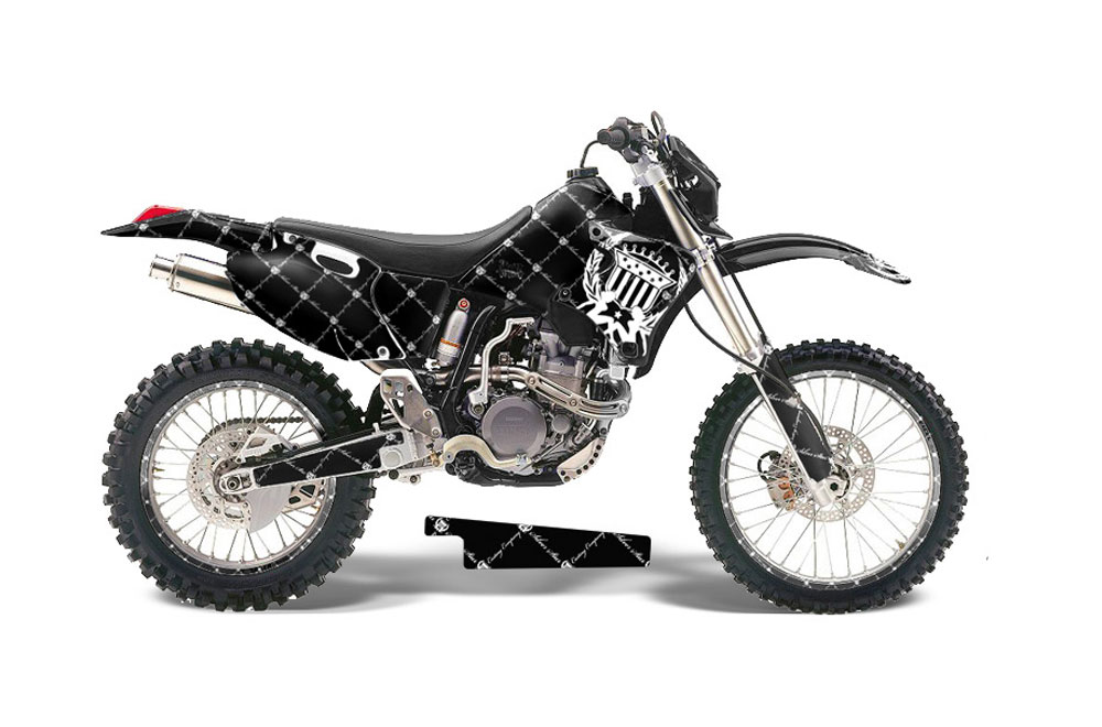 Yamaha WR400 Dirt Bike Graphics: Silver Star Reloaded - White MX Graphic Decal Wrap Kit (1998-2002)